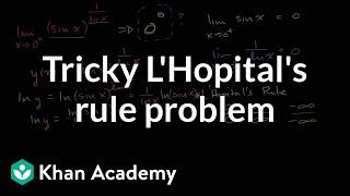 Tricky L'Hopital's Rule problem