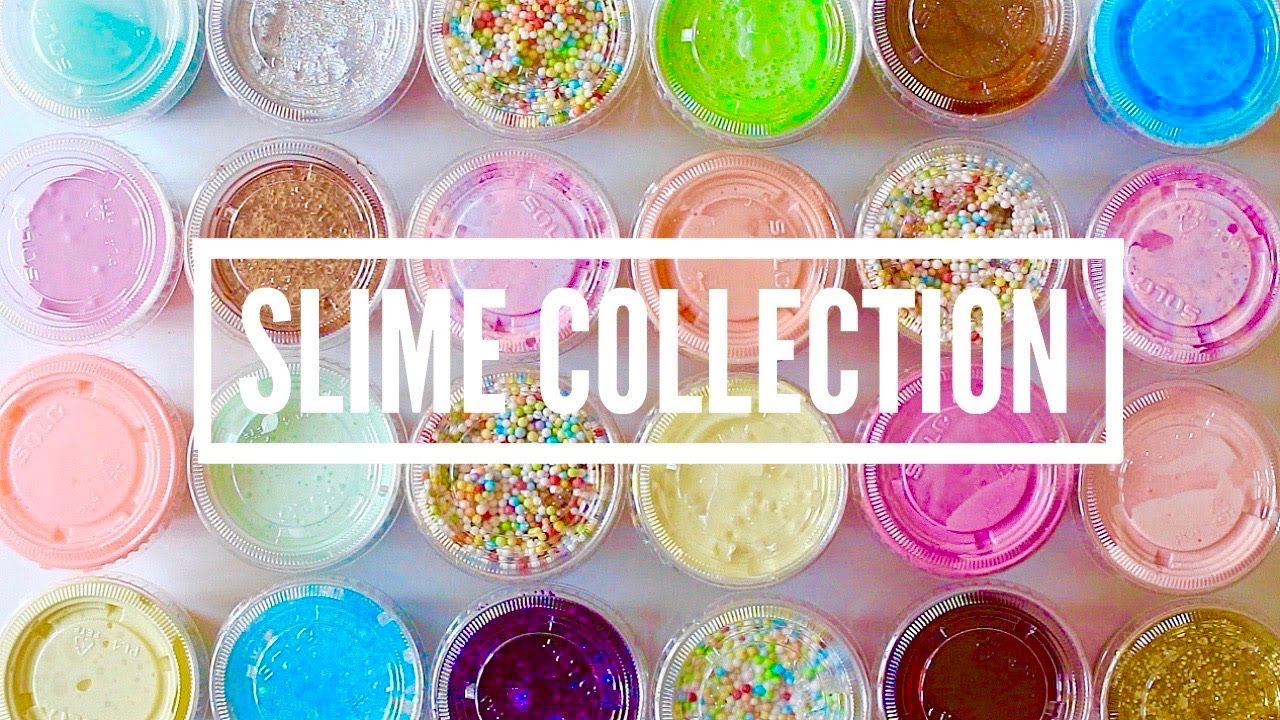 HUGE Slime Collection 2017 + ODDLY Satisfying Slime ASMR!