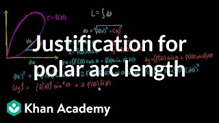 Justification for polar arc length formula