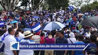 Exiliados piden ir a elecciones pero con reformas electorales