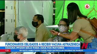 Funcionarios obligados a recibir vacuna AstraZeneca