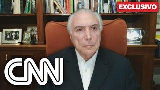 Exclusivo: Ex-presidente Michel Temer repercute falas de Jair Bolsonaro