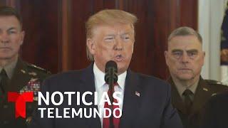 Trump anuncia nuevas sanciones económicas contra Irán tras el ataque en Irak   Noticias Telemundo