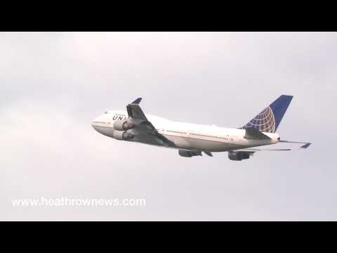 Final United Airlines 747 flight from Heathrow