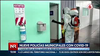 Nueve policías municipales con Covid-19