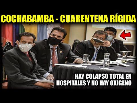 Cochabamba anuncia cuarentena rígida por elevados números de contagios