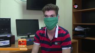 Jóvenes cubanos en la primera línea de combate a la pandemia