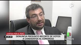 Juntos por el Perú denuncia presunto recorte de votos a candidatos al Congreso de la República