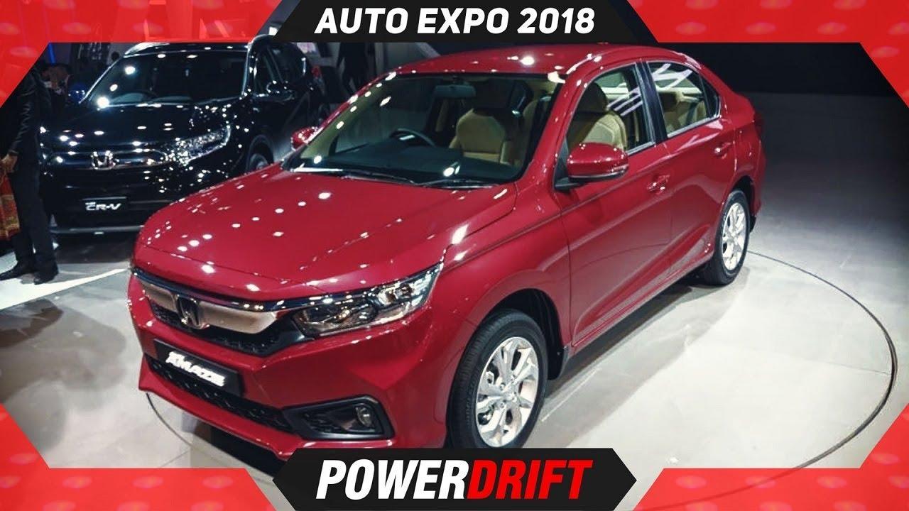 2018 Honda Amaze @ AutoExpo : Maruti Dzire Take Note : PowerDrift