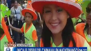 Inicia desfile del Carnaval en Mazatenango