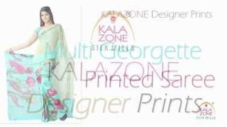 Online Sarees Shopping In India Kalazone Designer Prints