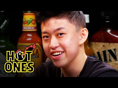 connectYoutube - Rich Brian Experiences Peak Bromance While Eating Spicy Wings | Hot Ones