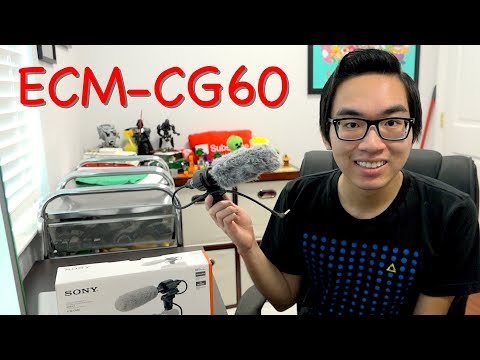 NEW MICROPHONE? - Sony ECM-CG60 Unboxing + Test!