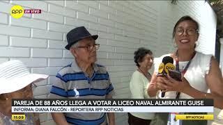 Pareja de ancianos de 88 años acudió a su centro de votación para ejercer su deber ciudadano