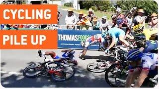 Cycling Crash at Tour Down Under | Nasty Wreck