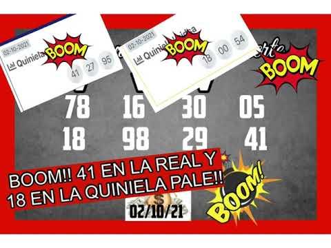 BOOM!! EL 41 WN LOTERIA REAL Y EL 18 EN LA QUINIELA PALE!!