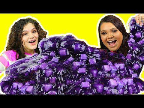 connectYoutube - DIY GIANT JELLY CUBE SLIME! How To Make Sponge Slime