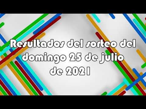 Lotería de Panamá - Resultados del sorteo del domingo 25 de julio de 2021