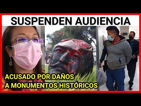 Suspenden la audiencia de Primera Declaración de Rudy Amilcar Lopez acusado por daños a monumento