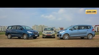 Honda Mobilio Vs Maruti Ertiga Vs Toyota Innova - Toyota Video
