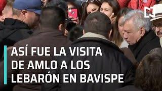 Así fue la visita de AMLO con la familia LeBarón en Bavispe - En Punto