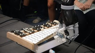 Stanford students teach robots to play dominoes, the xylophone