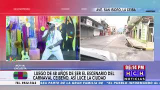 Vacías calles de la Ceiba en fecha de carnaval