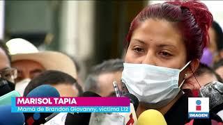 Mamá de Brandon Giovanny denuncia negligencia tras accidente en la Línea 12   Yuri Sierra