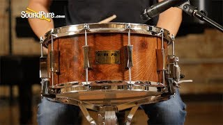 Pork Pie 6.5x14 Oak Snare Drum Redwood Burl—Quick 'n' Dirty