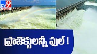 భారీ వర్షాలతో నిండుకుండలా ప్రాజెక్టులు : Telugu States Projects  - TV9 - TV9