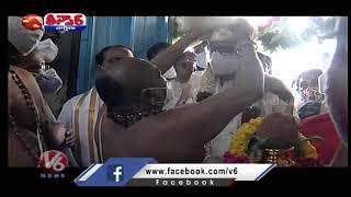 CJI Justice NV Ramana Visits Yadadri Lakshmi Narasimha Temple | V6 Teenmaar - V6NEWSTELUGU