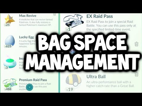 connectYoutube - Let's Discuss: BAG SPACE MANAGEMENT IN POKEMON GO!