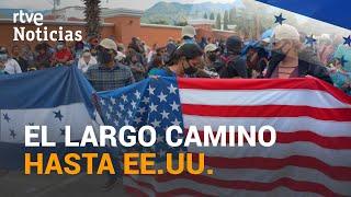 GUATEMALA: MILES de MIGRANTES retenidos en su camino a pie hacia ESTADOS UNIDOS | RTVE Noticias