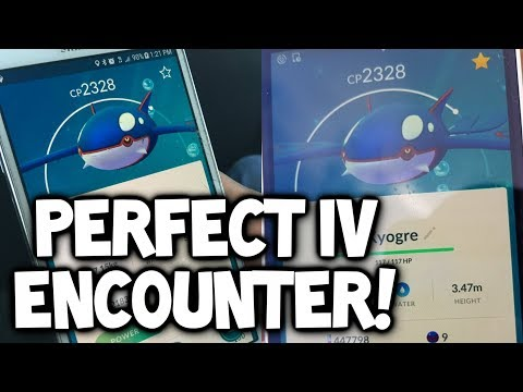 connectYoutube - INSANE!!! PERFECT IV KYOGRE ENCOUNTER IN POKEMON GO WITH EXCELLENT THROWS! (100% IV KYOGRE GAMEPLAY)