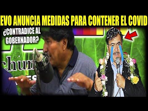 Evo anuncia medidas contradictorias al Gobernador de Cochabamba