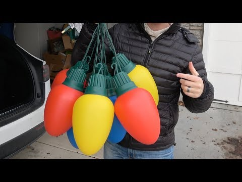 Whats inside the BIGGEST Christmas Lights?