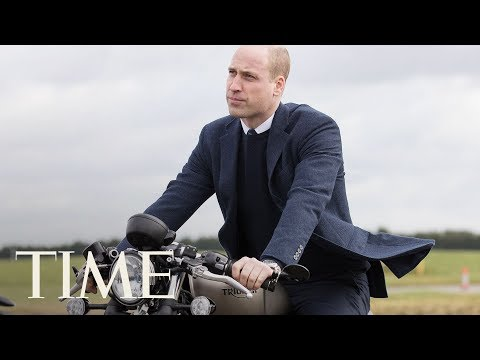 connectYoutube - Prince William Poses On A Motorcycle During Royal Visit To Triumph Factory | TIME