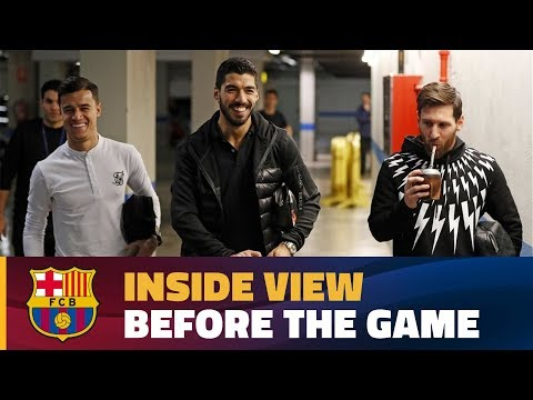 Coutinho, Luis Suárez and Messi get ready for action against Alavés