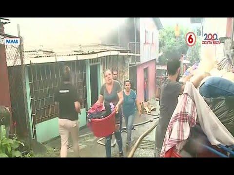 Fuego consumió 10 viviendas en Pavas