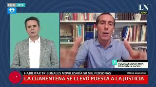 Hugo Alconada Mon: la justicia, en cuarentena eterna y lejos de volver
