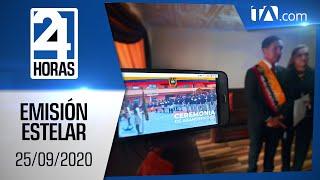 Noticias Ecuador: Noticiero 24 Horas, 25/09/2020 (Emisión Estelar)