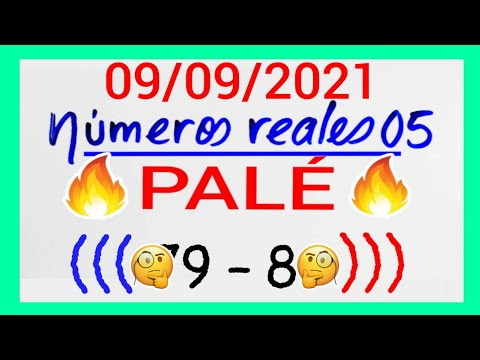 NÚMEROS PARA HOY 09/09/21 DE SEPTIEMBRE PARA TODAS LAS LOTERÍAS..! Números reales 05 para hoy....!!