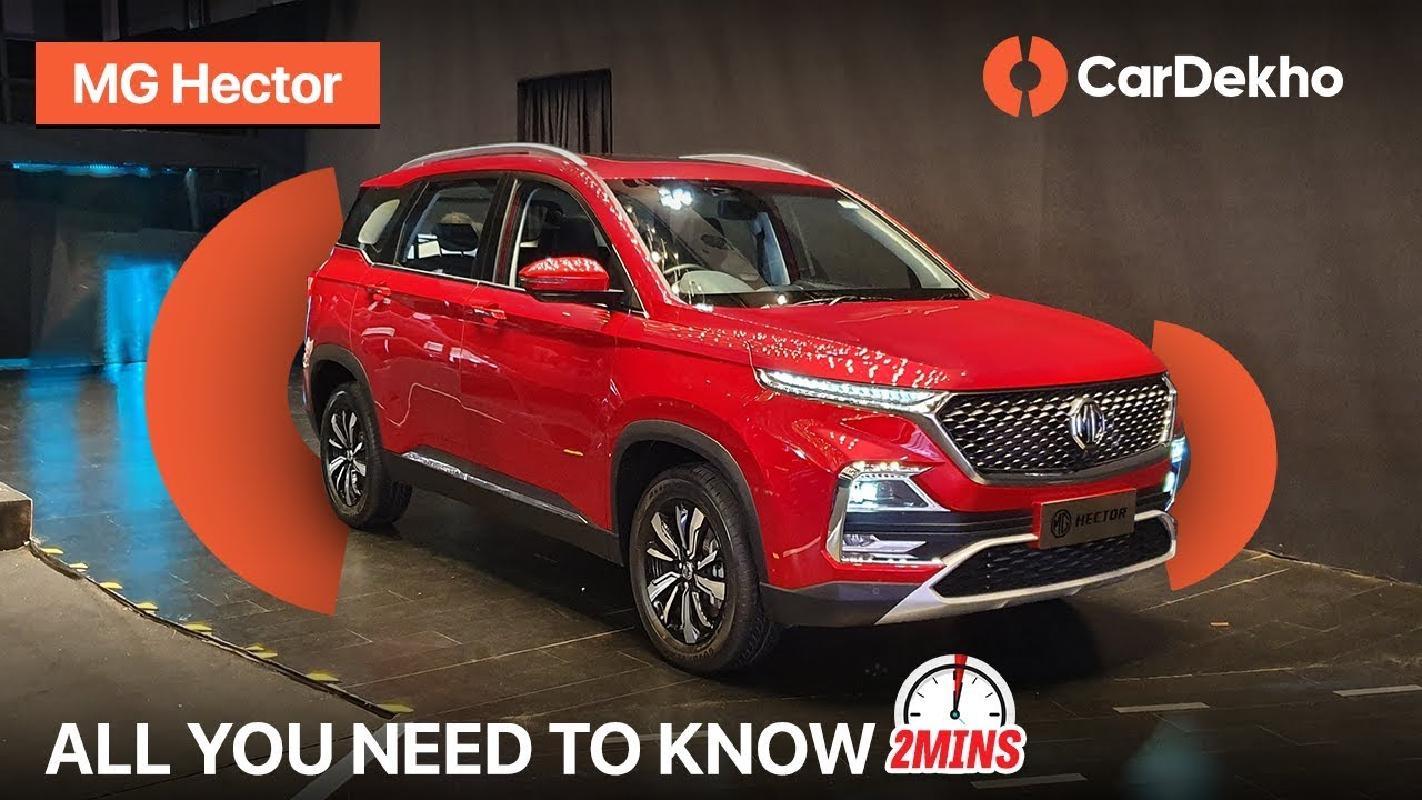 MG Hector India Expected Price, Launch, Features, Specifications and More! #In2Mins