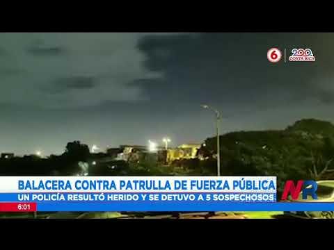Un policía resultó herido en balacera contra patrulla de Fuerza Pública en Purral de Goicoechea
