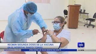 Reciben segunda dosis de la vacuna en el Hospital Santo Tomás