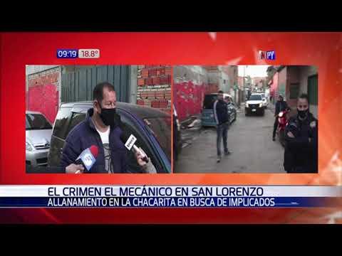 Allanamiento en busca de sospechosos del asesinato del mecánico de San Lorenzo