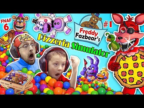 connectYoutube - FNAF 6 Pizzeria Simulator! Ball Pit Balls, Pizza & Jump Scares = BEST DAY EVER w/ FGTEEV Chase