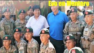 Militares en Montero se sacan Fotos con Evo Morales - Santa Cruz Bolivia
