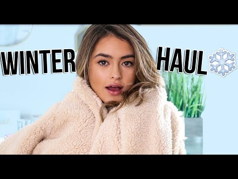connectYoutube - HUGE TRY ON WINTER HAUL ft TopShop, Forever 21 and more | Natalie Barbu