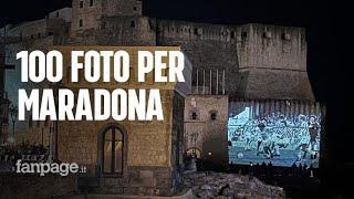 Cento foto su Maradona su Castel dell'Ovo del fotografo Sergio Siani: